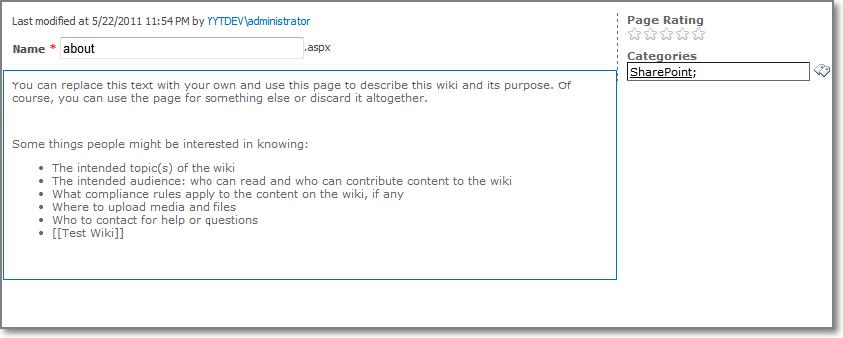 SharePoint Enterprise Wiki