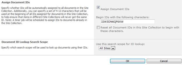 Document ID in SharePoint Server 2010
