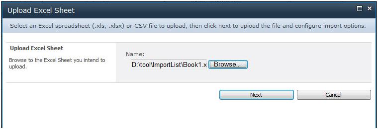 Excel Import 1.0