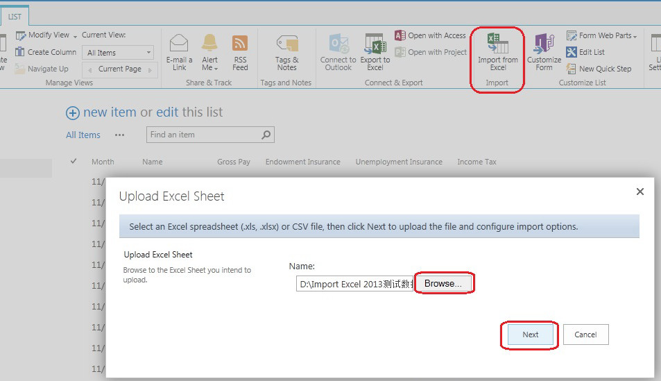 A Preview of Excel Import for SharePoint 2013