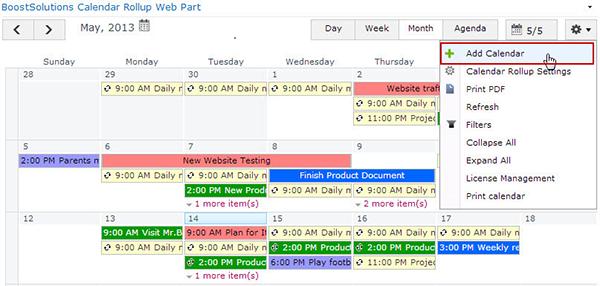 calendar rollup