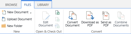 Convert a document to a PDF file on SharePoint
