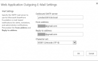 Outgoing Email Settings in SharePoint 2016