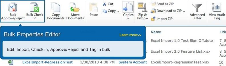 SharePoint Bulk Properties Editor