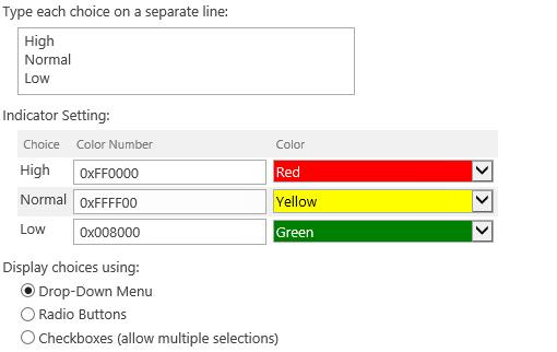 Customize color for each choice value