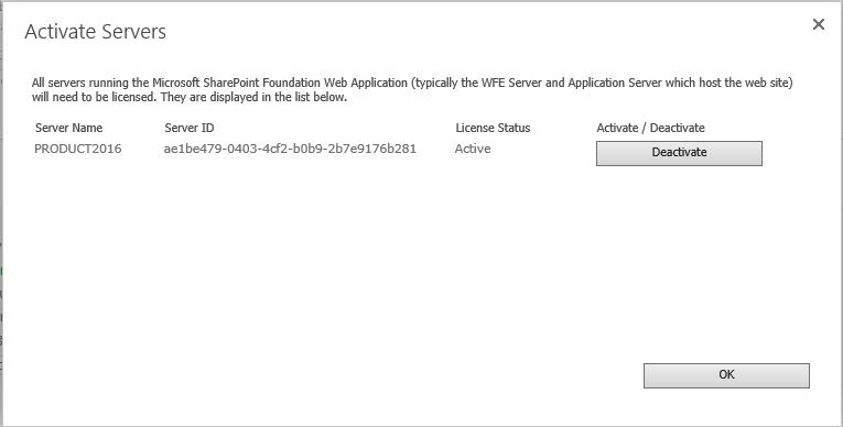 Deactivate Server License