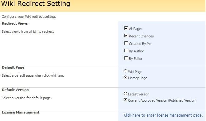 Free SharePoint web part SharePoint wiki redirect